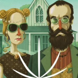 american-gothic-high-steve-simpson-impression-sur-acrylique