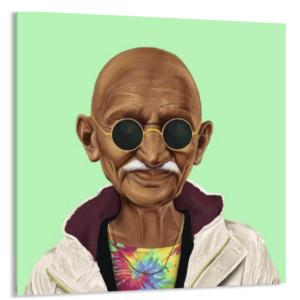 Tableau Gandhi – Amit Shimoni – Toile imprimée