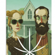 American Gothic High Steve Simpson — Impression sur acrylique