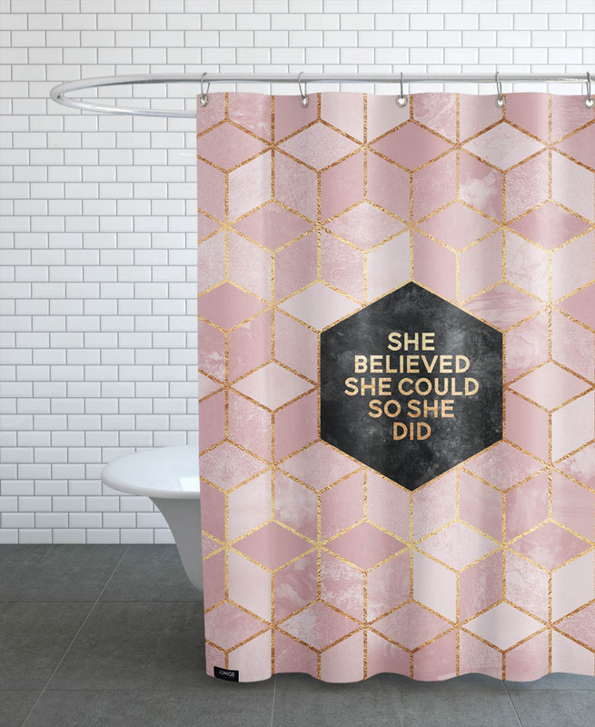 Rideau de douche Design She believed she could - E.Fredikrsson ...