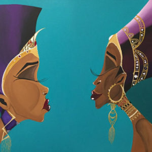 American Art African Queens Reflection
