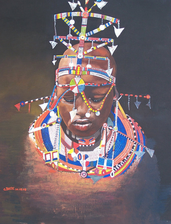 Jeune femme Masaï