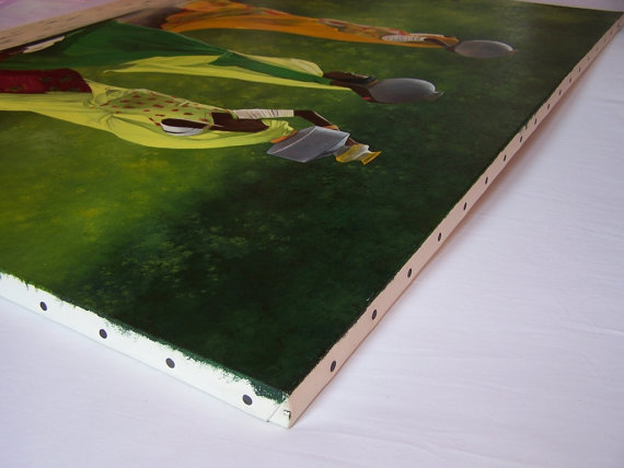 Tableau peinture huile - Femmes indiennes 3