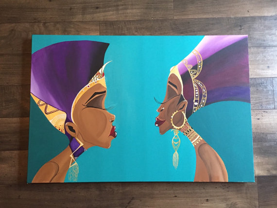 merican Art African Queens Reflection2