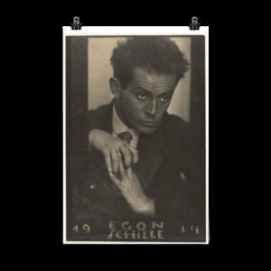 Affiche d'art – Portrait d'Egon Shiele