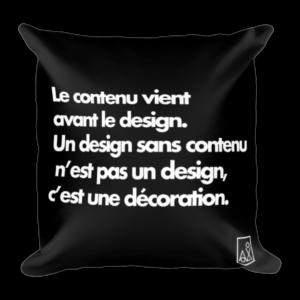 Coussin imprimé – Le contenu vient avant le design 2
