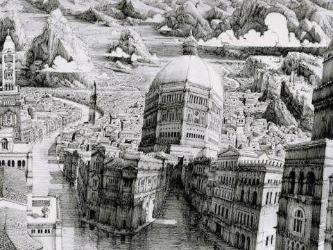 Ben Sack art insolite dessin ville infini 3