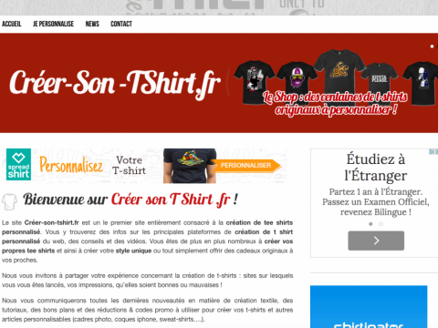 creer son tee shirt personnalise